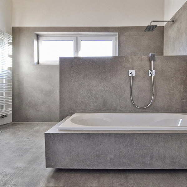 betony woskowane Beton Cire w łazience