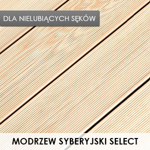 Taras Drewniany - Modrzew Syberyjski Select